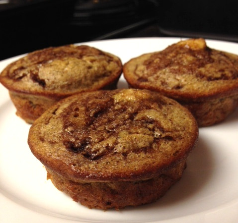 Grain Free Banana Muffins - Only 75 calories and 8 grams carbs per Muffin!