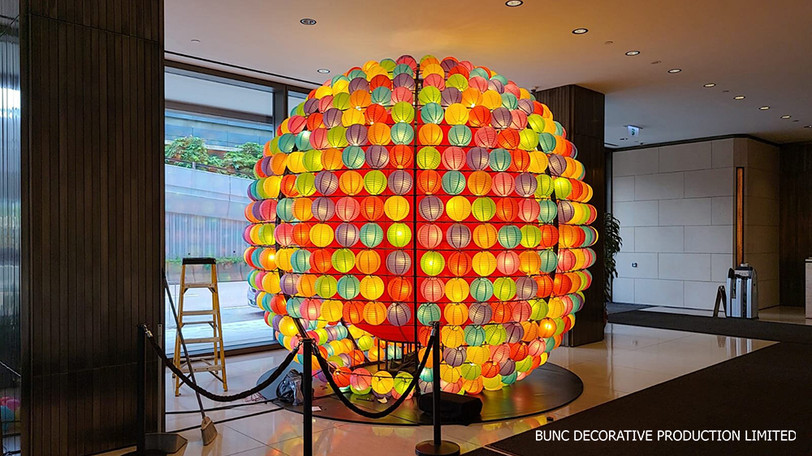 Mid-autumn Festival lantern decoration