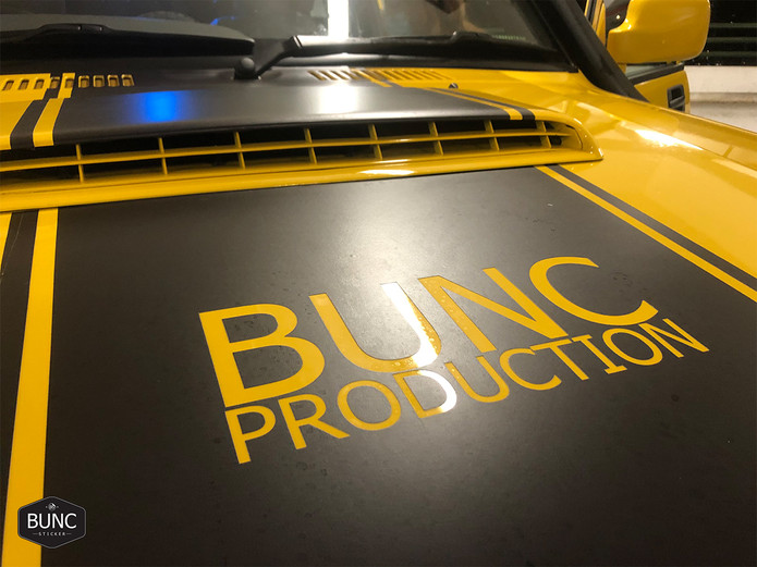BUNC Production Logo with decoration