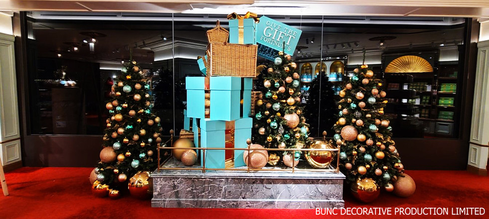 Christmas window display @ Fortnum & Mason