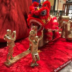 Golden 3D figure Display