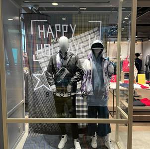 Clothes Shop window display