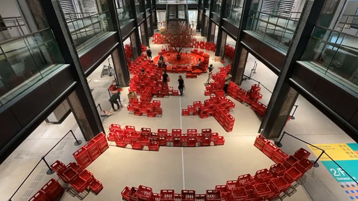 Chinese new year cola box installation art @ The Mills
