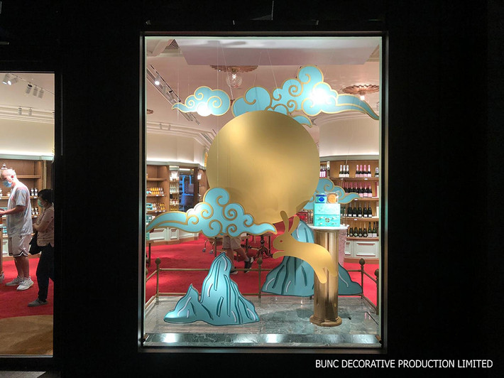 Fortnum & Mason Acrylic decoration Window Display