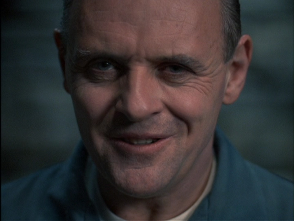 close up of Hannibal lecter from the film silence of the lambs