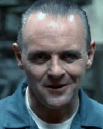 Image of Hannibal Lecter with darkened eyes