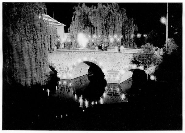 Reisener Brücke bei Nacht - altes Foto