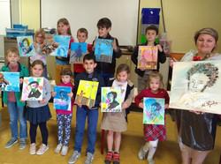 'Mijn Poesjkin' - schilderwerk van de leerlingen. Filiaal Izegem. 2017