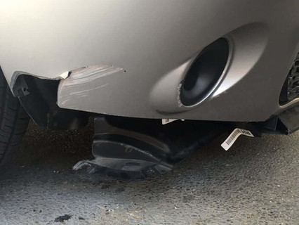 """(brought in for) """"Bumper damage."""""""