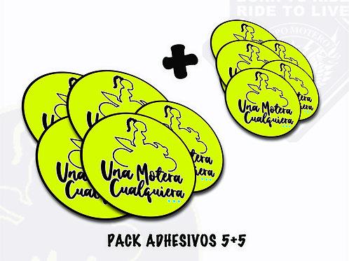 PACK ADHESIVOS 5+5 (Una Motera Cualquiera)