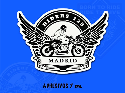 ADHESIVOS 7 cm (Riders 125 Madrid)