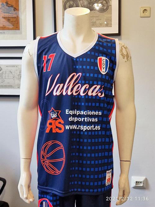 Camiseta Azul Basket CDV 1ª (CDV Vallecas)