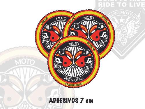 ADHESIVOS 7 cm (Motopatriotas)