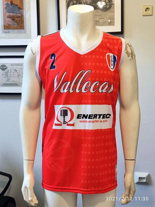 Camiseta Roja Basket CDV 1ª (CDV Vallecas)