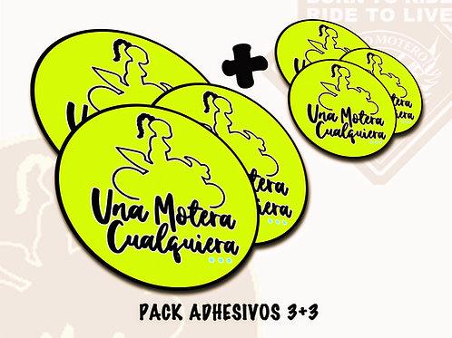 PACK ADHESIVOS 3+3 (Una Motera Cualquiera)
