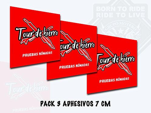 PACK 3 ADHESIVOS (Tour de Acero)