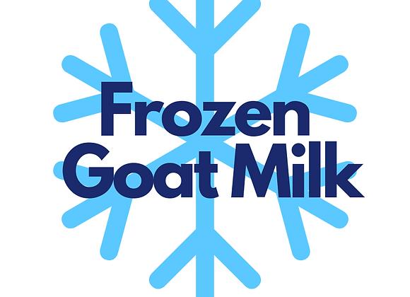 Frozen Raw Goat Milk