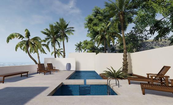 VR Resort Pool Visualization