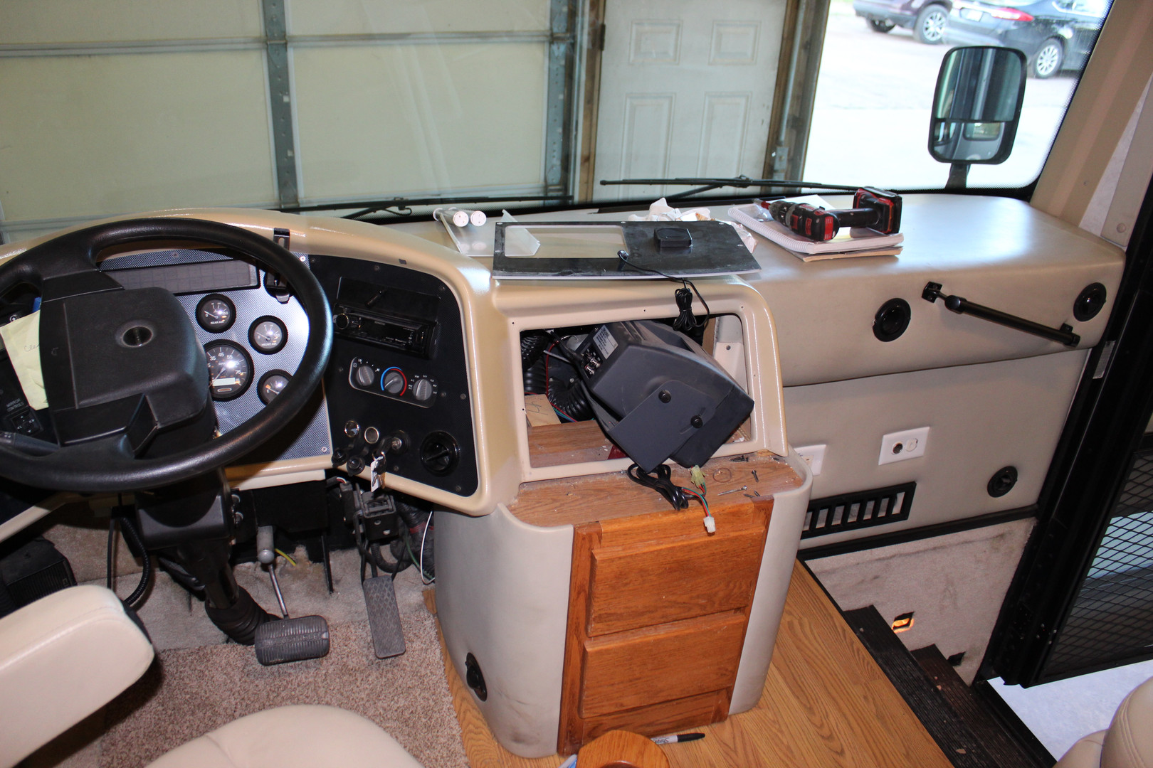 Before - Cab with Dated Dash Panel