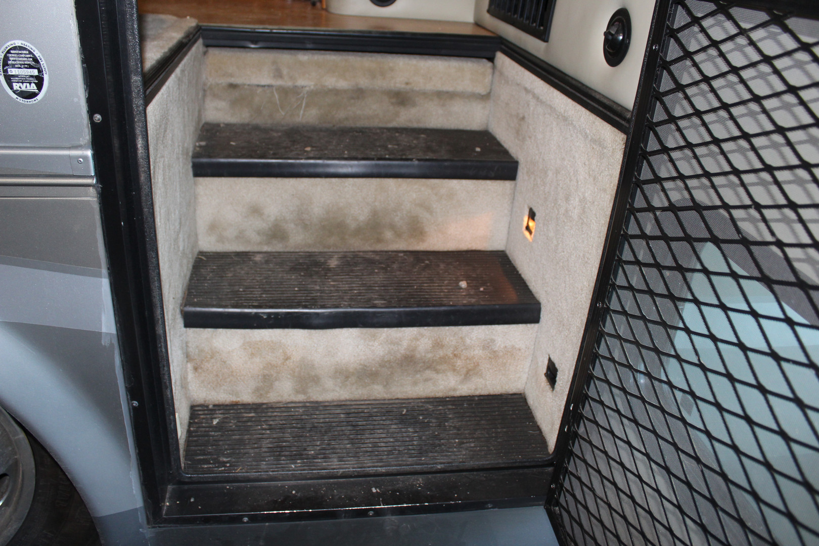 Before - Carpet Entry Stairs