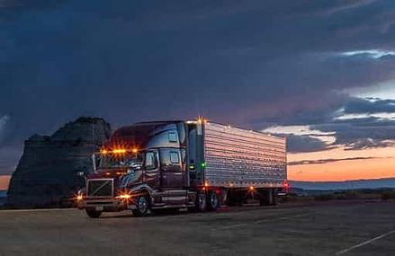 Semi-Truck at Sunset