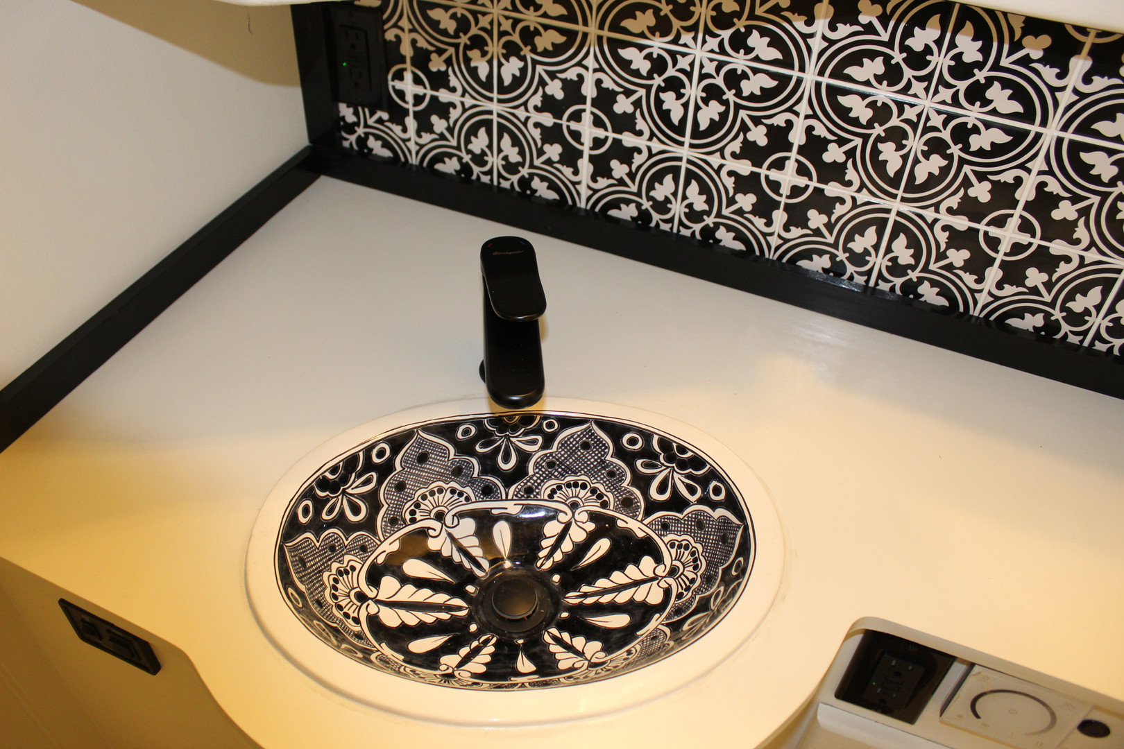 After - Custom Bathroom Sink and Tile