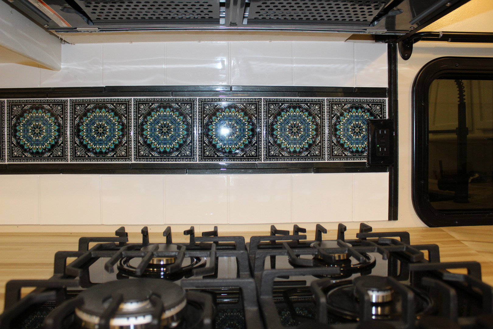 After - Stovetop with Tile Backsplash