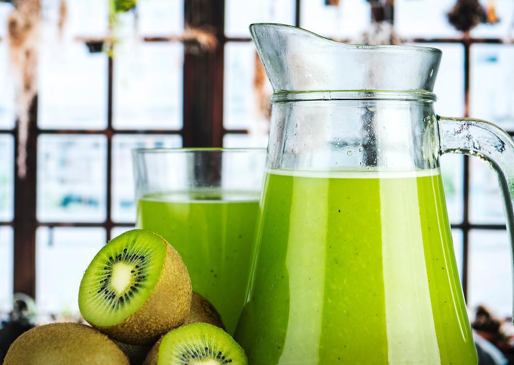 A pitcher of fruit juice