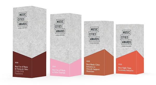 842 MUSIC CITIES AWARDS Logo & Branding_