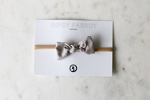 Casual greige baby knot hair bow
