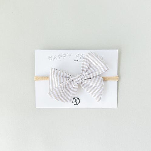 Beige stripes -BOYS Bow tie