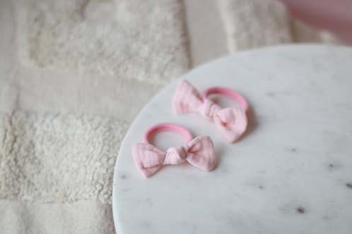 Peachy pink hairbands x 2