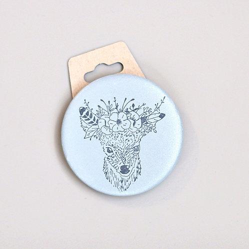 Big deer, reflective badge