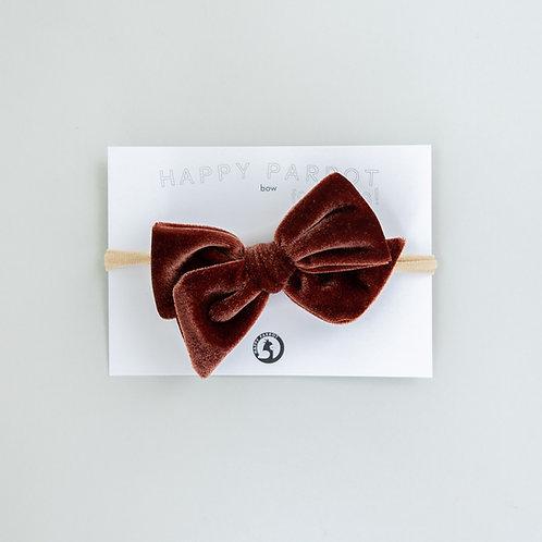 Cinnamon velvet -BOYS Bow tie