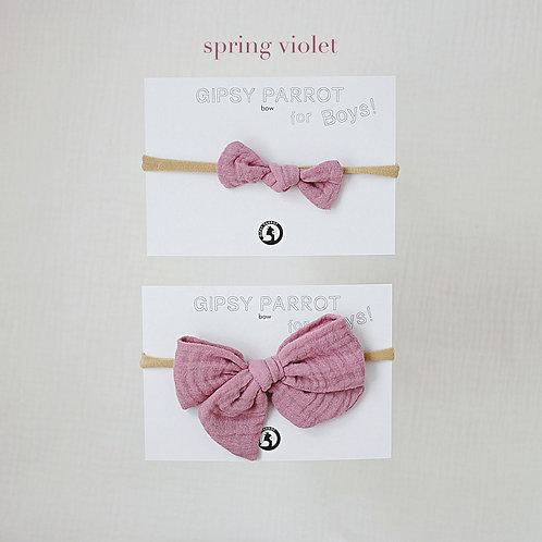 Spring violet / Boys bowtie
