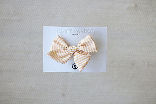 Lemon stripes bow pin
