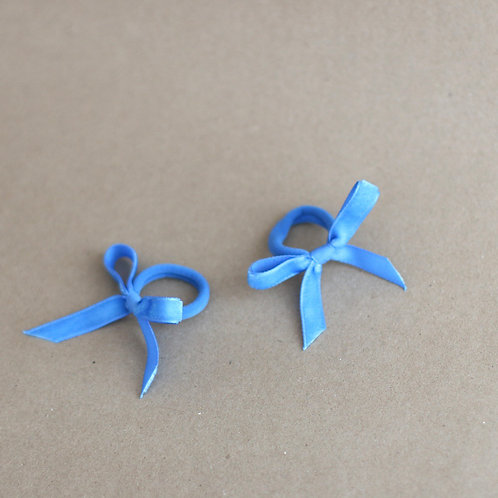 Blue ribbons BABY -hairbands x 2