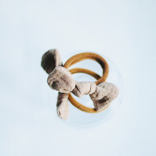 Beige baby knot hairbands x 2
