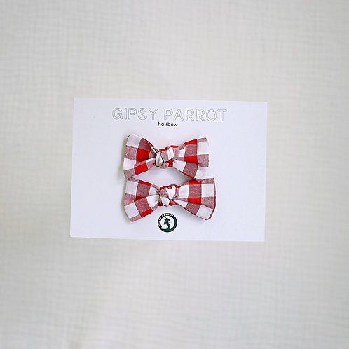 Red Gingham Babypinnit 2kpl