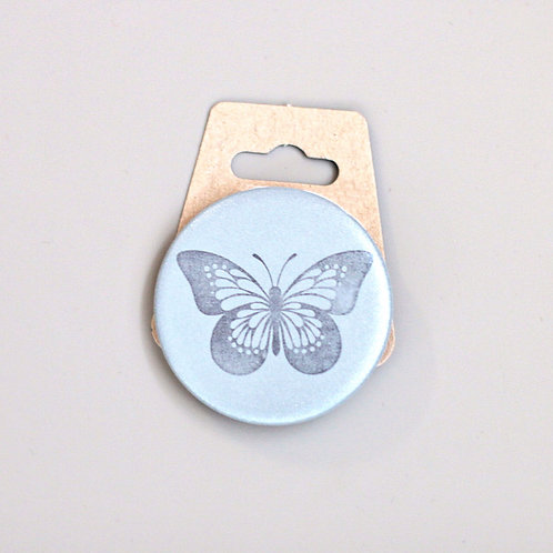 Butterfly, reflective badge