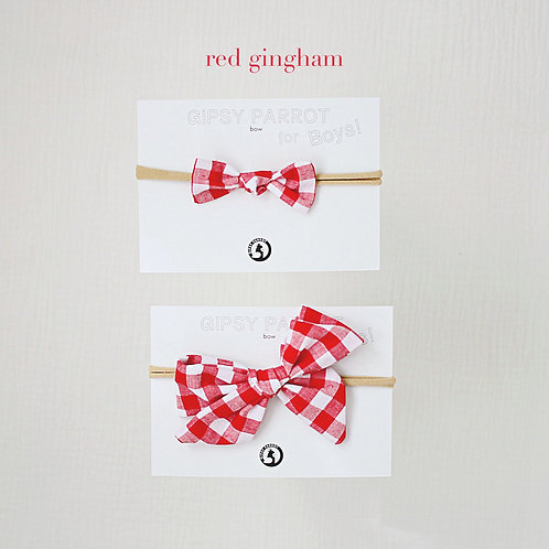 Red gingham / Boys bowtie