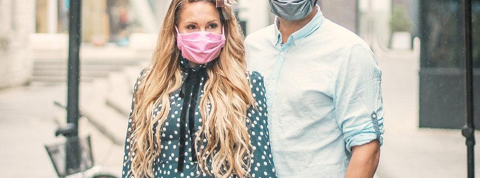 Kasvomaski, kankainen.  Facemask, cotton. 1 kpl/pc