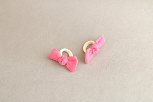 Strawberry pink BABY -hairbands x 2