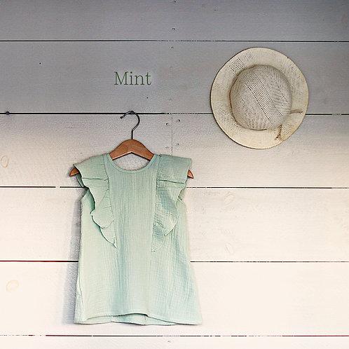 Ruffle Dress Mini Mint