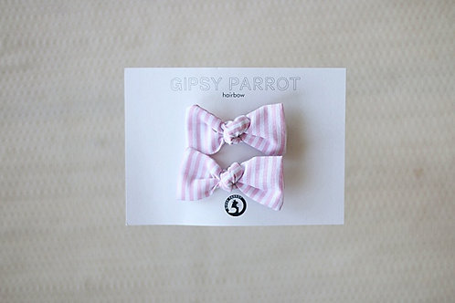 Light pink stripes baby pins 2pcs