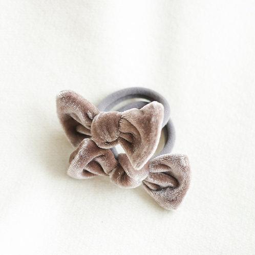 Almond velvet hairbands x 2