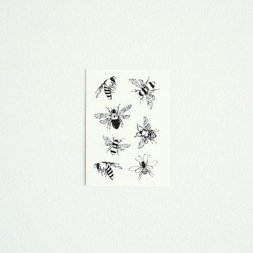 Mehiläiset -leikkitatuointi x 3