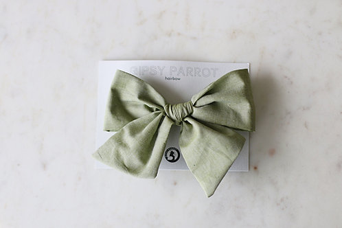 Olive green Giant bow pin