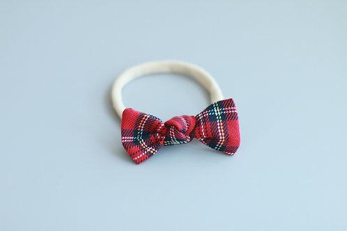 Punainen jouluruutu Baby knot -panta