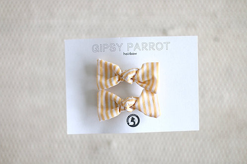 Lemon stripes baby pinnit 2 kpl